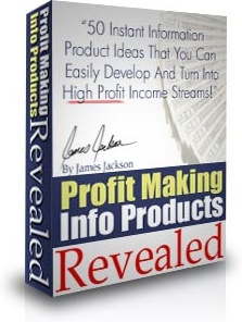 Ebook cover: Profit Making Info Products Revealed