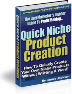 Ebook cover: Quick Niche Product Creation