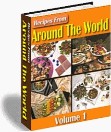Ebook cover: Recipes From Around The World v1