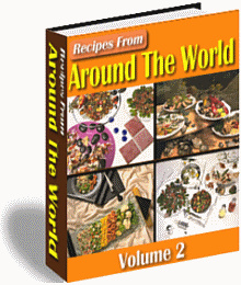 Ebook cover: Recipes From Around The World v2