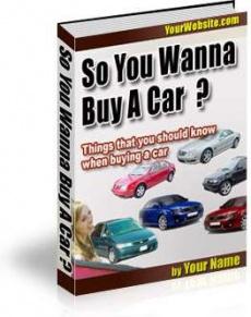 Ebook cover: So You Wanna Buy A Car