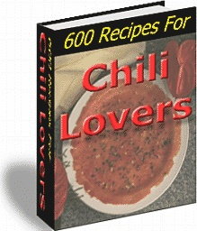 Ebook cover: 600 Recipes For Chili Lovers