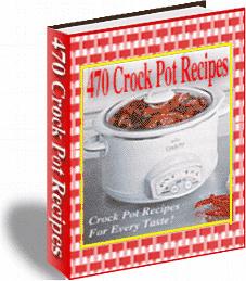 Ebook cover: 470 Crock Pot Recipes