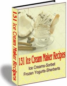 Ebook cover: Ice Cream Maker Recipes
