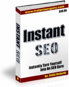 Ebook cover: Instant SEO