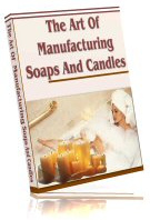 Ebook cover: Art Of Manufacturing Soaps And Candles