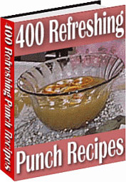 Ebook cover: 400 Refreshing Punch Recipes