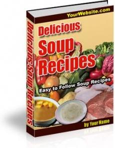 Ebook cover: Soup Recipes