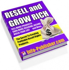 Ebook cover: Resell And Grow Rich