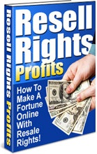 Ebook cover: Resell Rights Profits