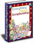 Ebook cover: Everything About Scrapbooking.