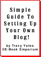 Ebook cover: Simple Guide To Setting Up Your Own Blog