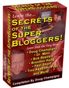 Ebook cover: Secrets of the Super Bloggers