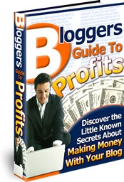 Ebook cover: Bloggers Guide To Profits