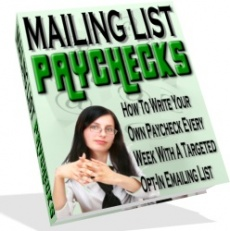 Ebook cover: Mailing List PayChecks
