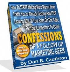 Ebook cover: Confessions of a Follow Up Marketing Geek