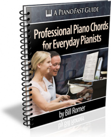 Ebook cover: Learn To Play Professional Piano Chords Faster And Easier