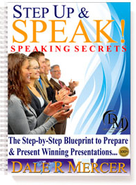 Ebook cover: Step Up and Speak - The Step-by-Step Blueprint to Prepare & Present Winning Presentations