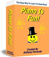 Ebook cover: Learn To Read Piano Music With Fun