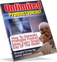 Ebook cover: Unlimited Product Ideas