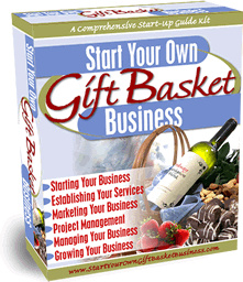 Ebook cover: Starting a Gift Basket Business