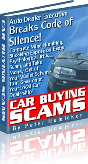 Ebook cover: Car Buying Scams