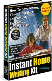 Ebook cover: INSTANT Home Writing Kit