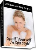 Ebook cover: 225 Bath & Body Recipes