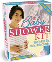 Ebook cover: The Baby Shower Kit - How To Plan The Perfect Baby Shower