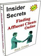 Ebook cover: Insider Secrets - Finding Affluent Clients Online