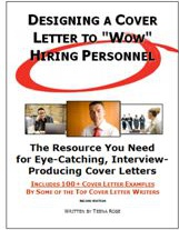 Ebook cover: Designing a Cover Letter to 'Wow' Hiring Personnel
