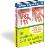 Ebook cover: VANISHING CARD BOX Illusion