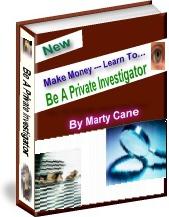 Ebook cover: Be A Private Investigator