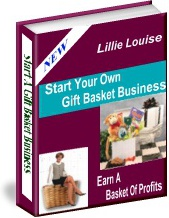 Ebook cover: Learn How To Start Your Own Gift Basket Business