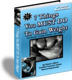 Ebook cover: 7 Things You MUST DO To Gain Weight