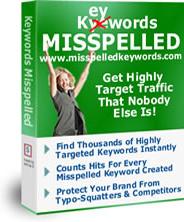 Ebook cover: Keywords Misspelled