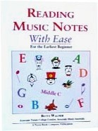 Ebook cover: Reading Music Notes With Ease for the Earliest Beginner