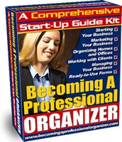 Ebook cover: Becoming a Professional Organizer