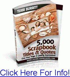 Ebook cover: 5,000 Scrapbook Titles & Quotes