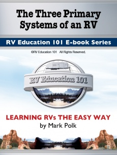 Ebook cover: The Three Primary Systems of an RV LP Gas System / Water System / Electrical System