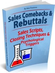 Ebook cover: The Ultimate Guide To Sales Comebacks and Rebuttals
