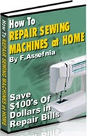 Ebook cover: How to Repair Sewing Machine at Home!