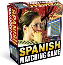 Ebook cover: Spanish Matching Game