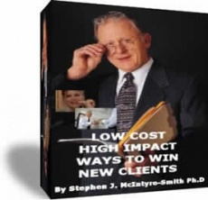 Ebook cover: Low Cost High Impact Ways To Win New Clients