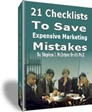 Ebook cover: 21 Checklists To Save Expensive Marketing Mistakes