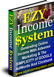 Ebook cover: EZY Income System