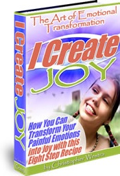 Ebook cover: I Create Joy - The Art of Emotional Transformation