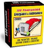 Ebook cover: 100 Powerpacked Energizers & Icebreakers